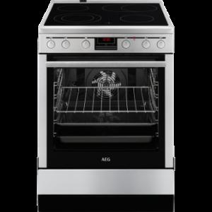 AEG Κεραμική Κουζίνα 347056V-MN Inox 72L A