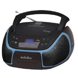 Audioline Boombox CD-96 Μαύρο-Μπλε
