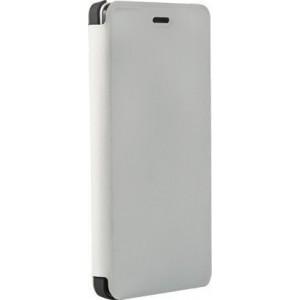 OEM Flip Wallet Case White + Tempered Glass (Doogee X5 / X5 Pro)