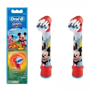 Oral B Ανταλλακτικά Βουρτσάκια Stages Power Mickey Mouse 2 τμχ