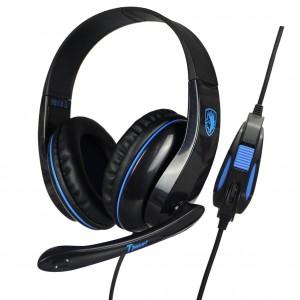 SADES Gaming headset Tpower με 40mm ακουστικά, Blue(SA-701BL)