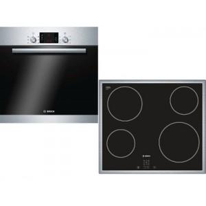 Bosch Σετ Εντοιχιζόμενος Φούρνος + Εστία BA23FN649 (HBA23B150 + PKE645D17)