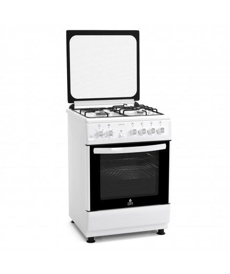 Thermogatz Κουζίνα αερίου μικτή 3 εστίες αερίου,1 εστία ηλεκτρική TG 3010 WH - ΛΕΥΚΟ