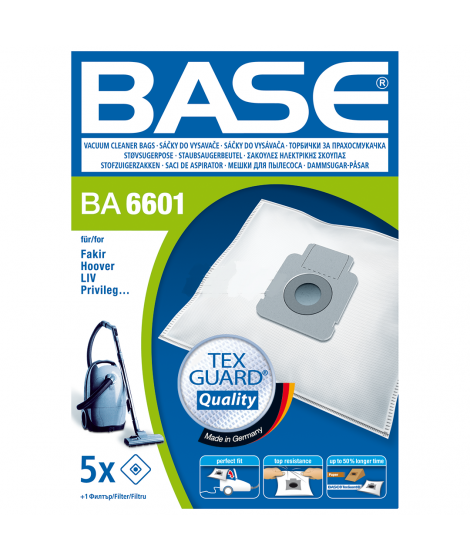 BASE Σακούλες ηλεκτρικής σκούπας BA 6601
