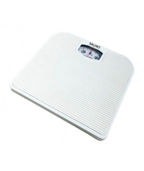 BRUNO Ζυγαριά μπάνιου μηχανική BRN-0009, 130kg max, λευκή