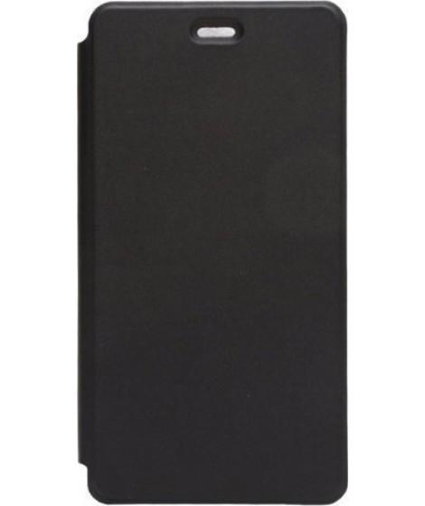 OEM Flip Wallet Case Black + Tempered Glass (Doogee X5 / X5 Pro)