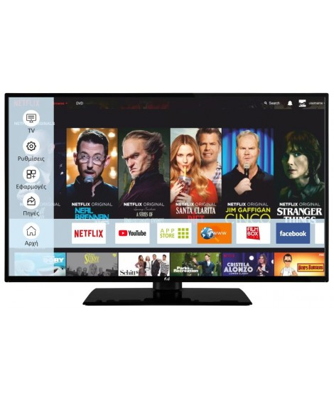F&U FL2D4308UH Τηλεόραση 4K Ultra HD TV Smart DVB T2/S2 Netflix/Amazon Prime FL2D4308UH 1.200HZ HDR