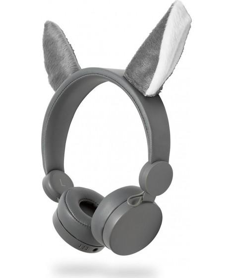 NEDIS On-ear ενσύρματα ακουστικά Animaticks Willy Wolf HPWD4000GY