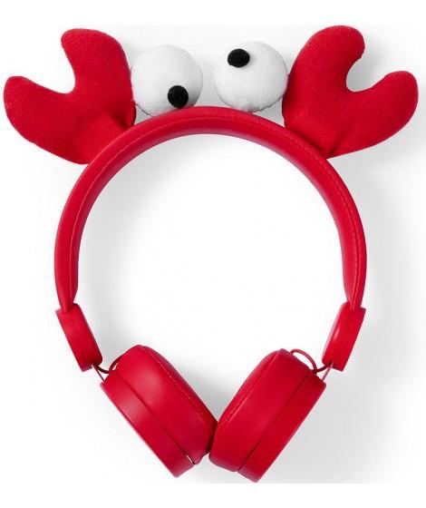 NEDIS On-ear ενσύρματα ακουστικά Animaticks Chrissy Crab HPWD4000RD