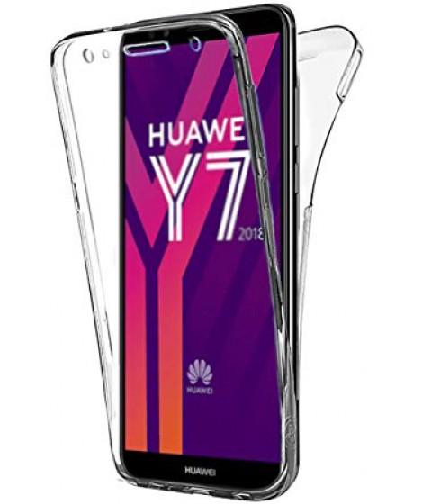 Huawei Υ7 2018 Θήκη Διάφανη & Tempered Combo