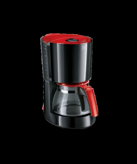 Melitta Καφετιέρα Φίλτρου Enjoy Glass II Μαύρο-Κόκκινο(1017-09)