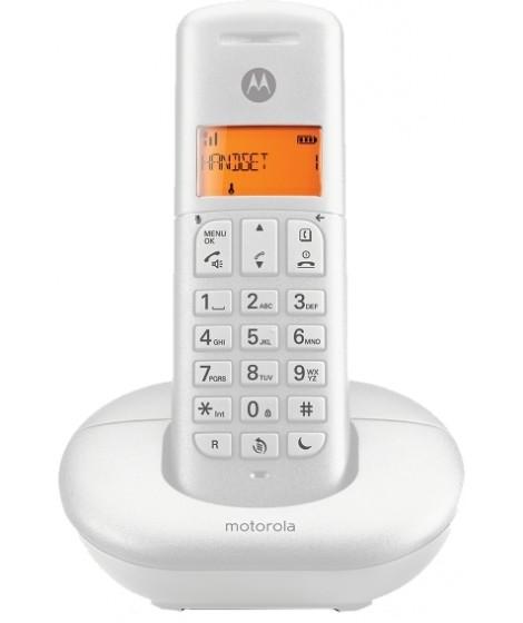 Motorola E201 Ασύρματο Τηλέφωνο με CALL BLOCK και DO NOT DISTURB Λευκό