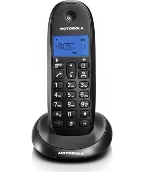 Motorola C1001LB Μαύρο Ασύρματο Τηλέφωνο