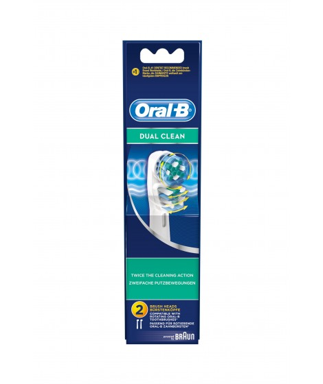 Oral B Dual Action Ανταλλακτικές Κεφαλές 2 τεμ(EB417-2/N)