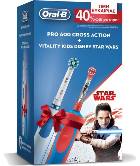 ORAL-B PRO 600 CrossAction & Vitality Kids Star Wars