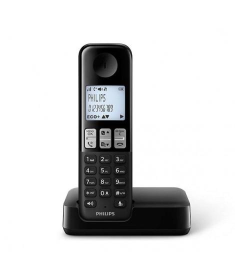 Philips Ασύρματο Τηλέφωνο Μαύρο D2501B