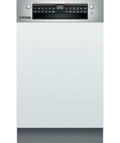 Pitsos DIS60I00 Εντοιχιζόμενο πλυντήριο πιάτων με εμφανή μετόπη 45 cm ανοξείδωτο ατσάλι