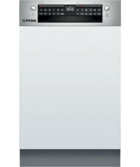 Pitsos DIS61I00 Εντοιχιζόμενο πλυντήριο πιάτων με εμφανή μετόπη 45 cm ανοξείδωτο ατσάλι
