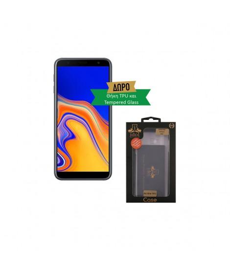 SAMSUNG GALAXY J4+ 32GB DUAL SIM Smartphone Black και δώρο θήκη TPU και Tempered Glass