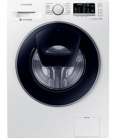 Samsung Πλυντήριο Ρούχων WW80K5410UW/LV (8Kg 1400Rmp Α+++-40%)