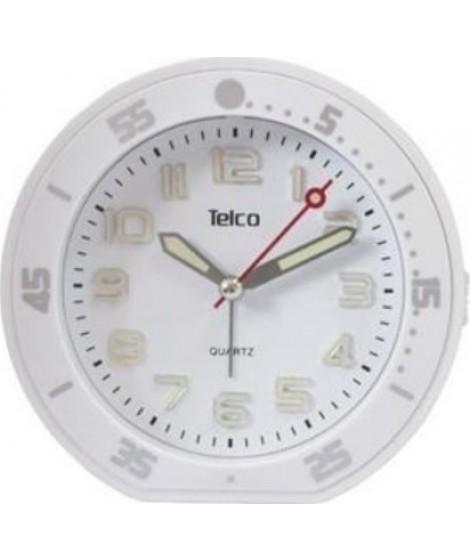 Telco 2809 Αθόρυβο ρολόι Rubber Λευκό 03.207
