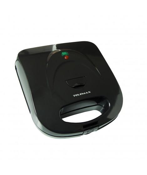 Telemax Τοστιέρα HY-718 Μαύρη