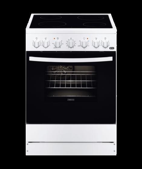 Zanussi ZCV 65201 WA Κουζίνα 54lt με Εστίες Κεραμικές