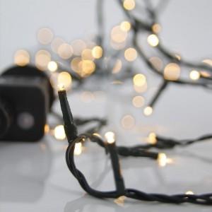 Eurolamp Σειρά, 240 LED 3MM 31V 8 Πρόγραμμα Πράσινο Καλώδιο Θερμό Λευκό LED Ανα 5CM IP44 - Θερμό Λευκό (2200K) - 600-11531