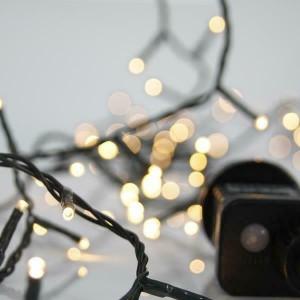 Eurolamp 600-11832 100 Λαμπάκια LED Φυσικό Λευκό 3mm με Προγράμματα, Σειρά, Πράσινο Καλώδιο Ρεύματος 5m