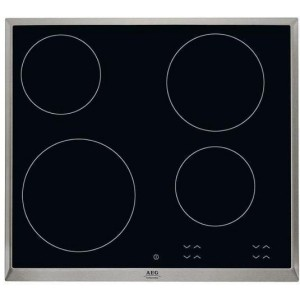 AEG Αυτόνομη Κεραμική Εστία HK624000XB Ιnox Πλαίσιο