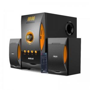 Akai SS032A-3515 Ηχοσύστημα 2.1 με Bluetooth, USB, SD, Aux-In και ραδιόφωνο 38 W