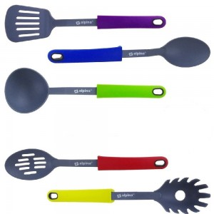 Alpina Σετ 5 τμχ Πολύχρωμα Εργαλεία Κουζίνας