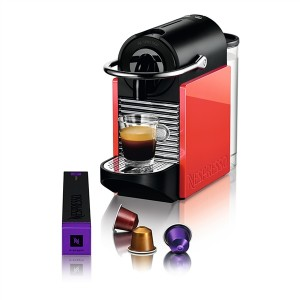 Delonghi Μηχανή Nespresso EN126 Pixie Clips White & Coral Neon & Δώρο κουπόνι αξίας 30€ για αγορά καφέ