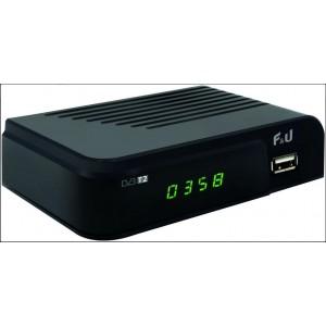 F&U MPF3473HU Δέκτης Ψηφιακής τηλεόρασης HD DVB-T2 με τηλεχειριστήριο 2 χρήσεων (tv & δέκτης)