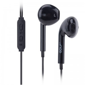 GOLF Ακουστικά Handsfree M1, Black (GF-M1-BK)