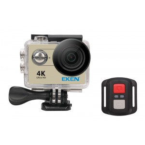 EKEN Action Cam H9R, Ultra HD 4K, 12MP, WiFi, Remote, Waterproof, Gold