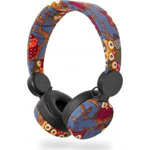 NEDIS On-ear ενσύρματα ακουστικά N-imal Owl Blue HPWD4101BK