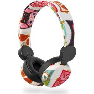 NEDIS On-ear ενσύρματα ακουστικά N-imal Owl White HPWD4102BK