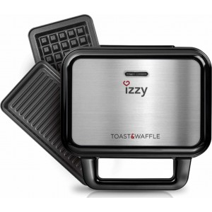 Izzy IZ-2001 Σαντουϊτσιέρα Toast & Waffle XL