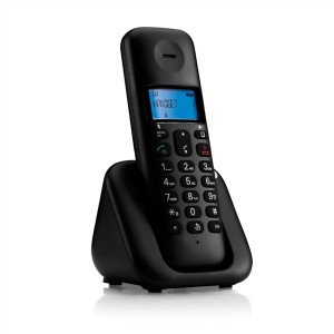 Motorola Ασύρματο Τηλέφωνο Τ301 Μαύρο