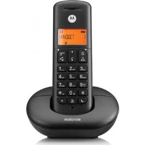Motorola E201 Ασύρματο Τηλέφωνο με CALL BLOCK και DO NOT DISTURB Μαύρο