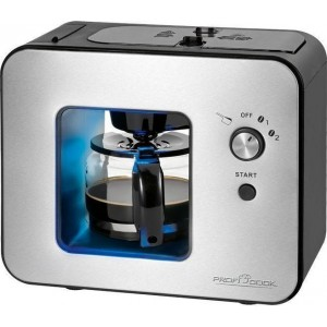 PROFI COOK PC-KA 1152 Καφετιέρα φίλτρου με ενσωματωμένο μύλο άλεσης καφέ 500ml, 900W