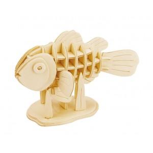 ROWOOD Ξύλινο 3D πάζλ Clownfish JP278, 36τμχ