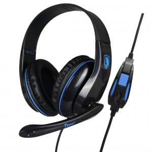 SADES Gaming headset Tpower με 40mm ακουστικά, Blue(SA-701BL)