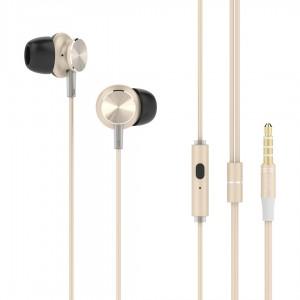 UIISII earphones GT500, 96db, 1.2m, χρυσό