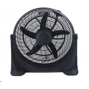 Eurolamp Ferrara 147-29052 Ανεμιστήρας Box Fan Στρογγυλός Μαύρος 50cm/90W 230V