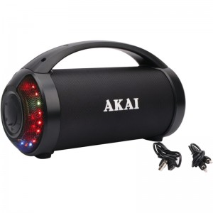 Akai ABTS-21H Φορητό ηχείο Bluetooth με TWS, USB, LED, Aux-In & handsfree 6.5 W