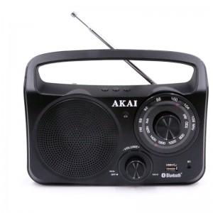 Akai APR-85BT Φορητό αναλογικό ραδιόφωνο με Bluetooth, USB και Aux-In