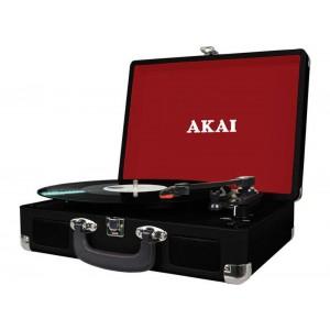 Akai Att-e10 Πικάπ Βαλίτσα Με Εγγραφή Σε Usb / Κάρτα Sd Και Ενσωματωμένα Ηχεία