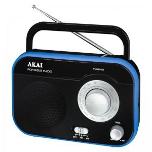 AKAI PR003A-410B Μαύρο Φορητό Ραδιόφωνο 1W